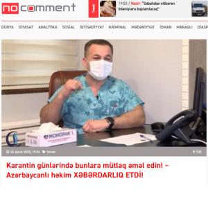 Karantin günlərində bunlara mütləq əməl edin! – Azərbaycanlı həkim XƏBƏRDARLIQ ETDİ!