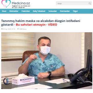 Tanınmış həkim maska və əlcəkdən düzgün istifadəni göstərdi - Bu səhvləri etməyin - VİDEO