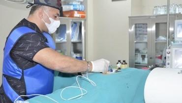 Beldə disk yırtığı səbəbi ilə yaranan ağrıların aradan qaldırılması üçün həyata keçirilən Radiofrekansla Dorsal Qanqlion Bloku prosedurundan fotolar